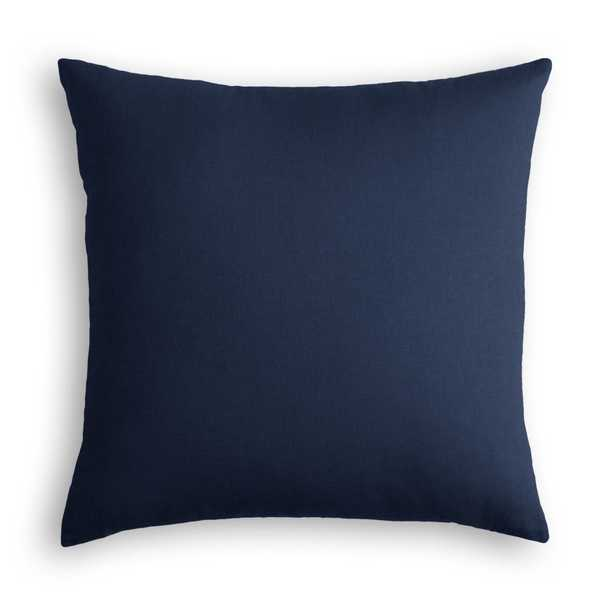"Classic Linen Pillow, Indigo, 20"" x 20"" - Havenly Essentials"