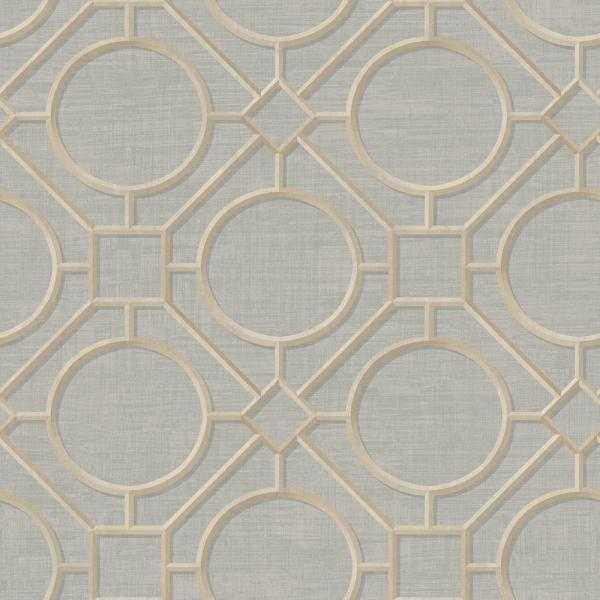 Silk Road Metallic Gold and Gray Trellis Wallpaper - Home Depot