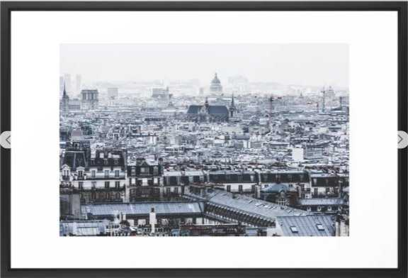 Rooftops - Architecture, Photography Framed Art Print - Society6
