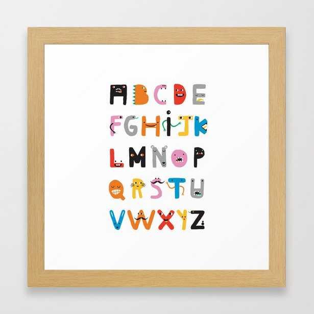 ABC The Monster Alphabet Framed Art Print - Society6