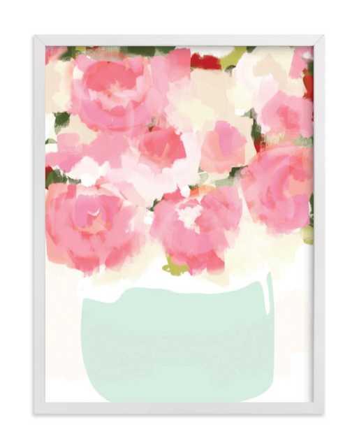 Peonies in Vase - Minted
