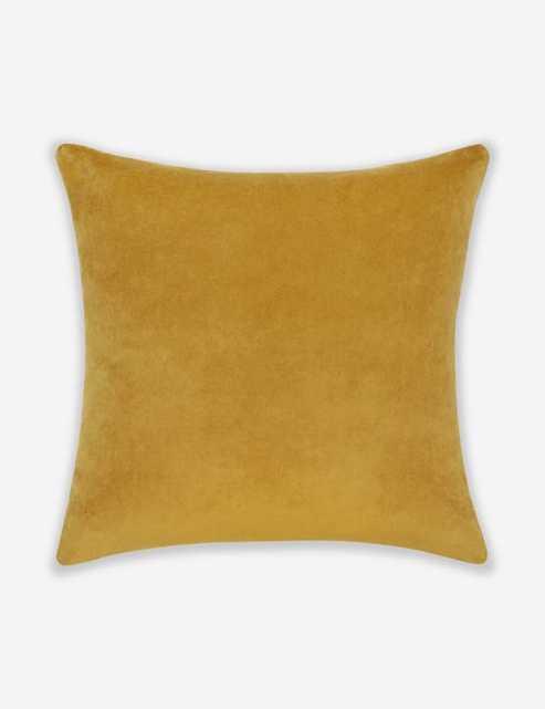 Charlotte Velvet Pillow, Mustard - Lulu and Georgia