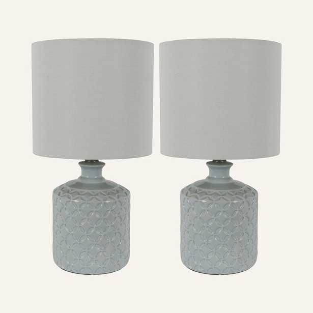 "Lorin Ceramic 17"" Table Lamp Set (Set of 2) - Wayfair"