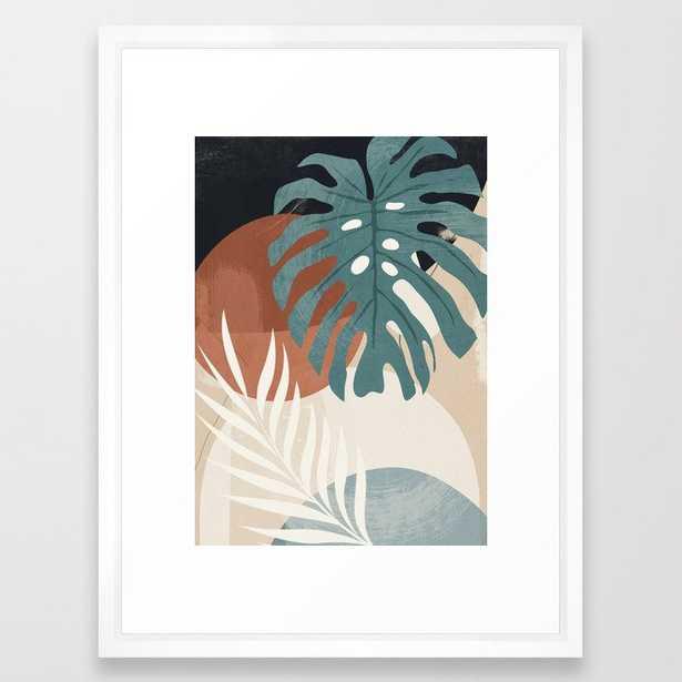 42 Abstract Art Tropical Leaves Framed Art Print - Society6