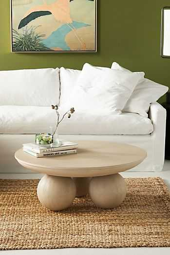 Sonali Round Coffee Table By Anthropologie in Grey - Anthropologie
