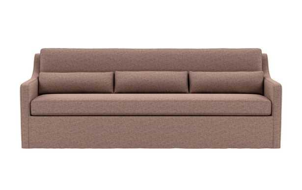 Ella Slipcovered Sofa (Mauve) - Interior Define