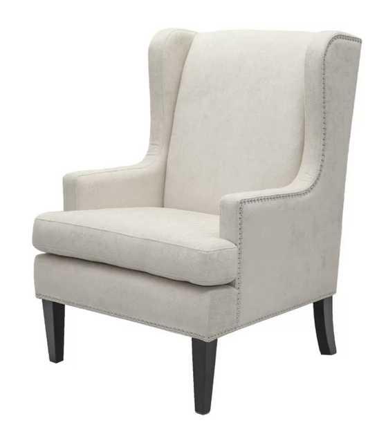 "Barrett 27"" Wingback Chair / Beige - Wayfair"