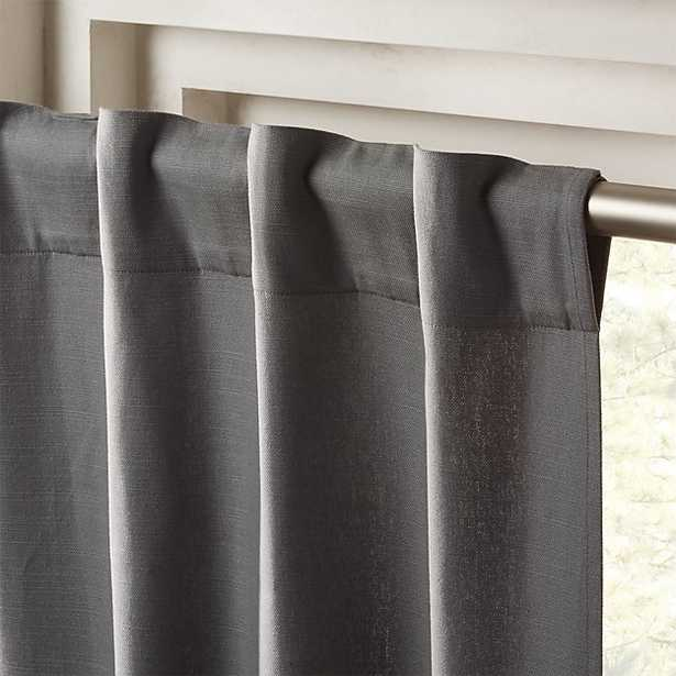 """Graphite Grey Basketweave II Curtain Panel 48""""x96"""""" - CB2"