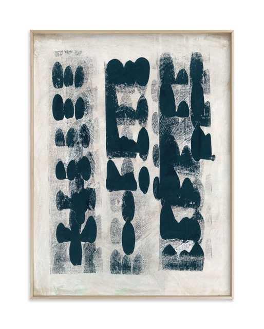 "Domino Effect 18"" x 24"" Matte Brass frame - Minted"