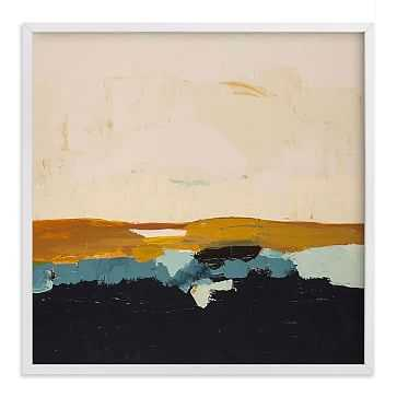 "Yellow Seascape, Full Bleed 44""x44"", White Wood Frame - West Elm"