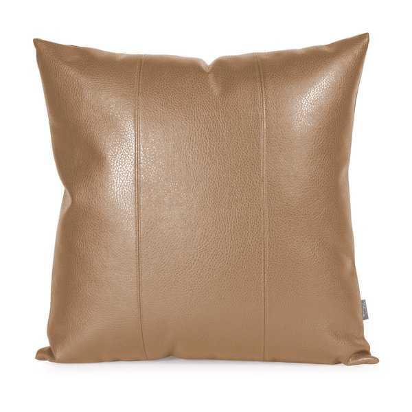 Wynkoop Faux leather Throw Pillow - AllModern