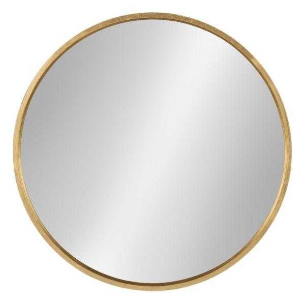 Medium Round Gold Contemporary Mirror (25.6 in. H x 25.6 in. W) - Home Depot
