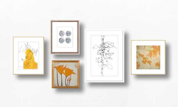 A Dash of Saffron - Gallery Wall w/ Frames & Prints - Artfully Walls
