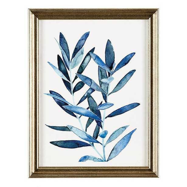 Ballard Designs Petite Blue Leaves Art - Print II - Ballard Designs