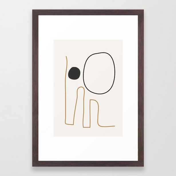 abstract minimal 55 Framed Art Print - Society6