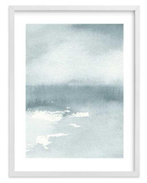 "Ice on the Lake  18"" x 24"" White Frame White Border - Minted"