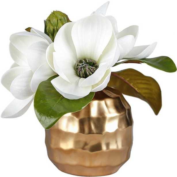 Artificial Magnolia Floral Arrangements and Centerpieces in Vase - Wayfair