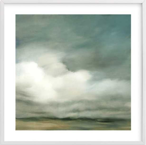 """First of October, 30"""" x 30"""", White wood frame, white border - Minted"""