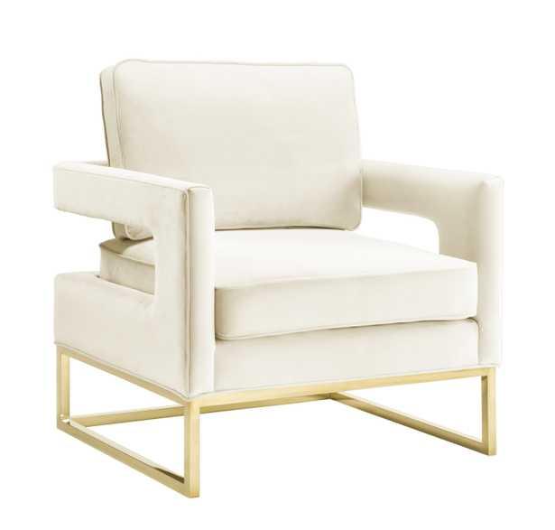 Aubrey Cream Velvet Chair - Maren Home