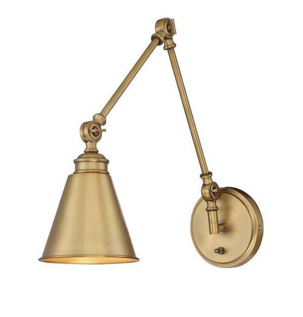 1-Light Warm Brass Sconce - Home Depot
