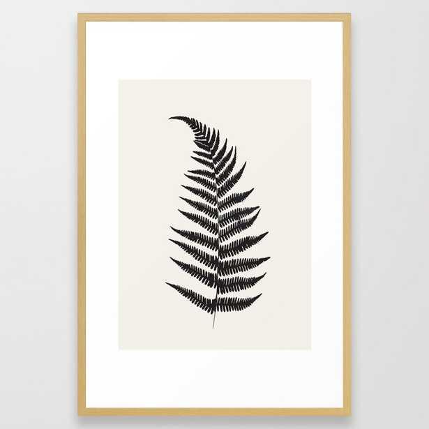 Minimal Fern Leaf Framed Art Print - Society6