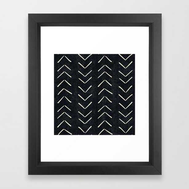 Mudcloth Big Arrows in Black and White Framed Art Print by Becky Bailey - Society6