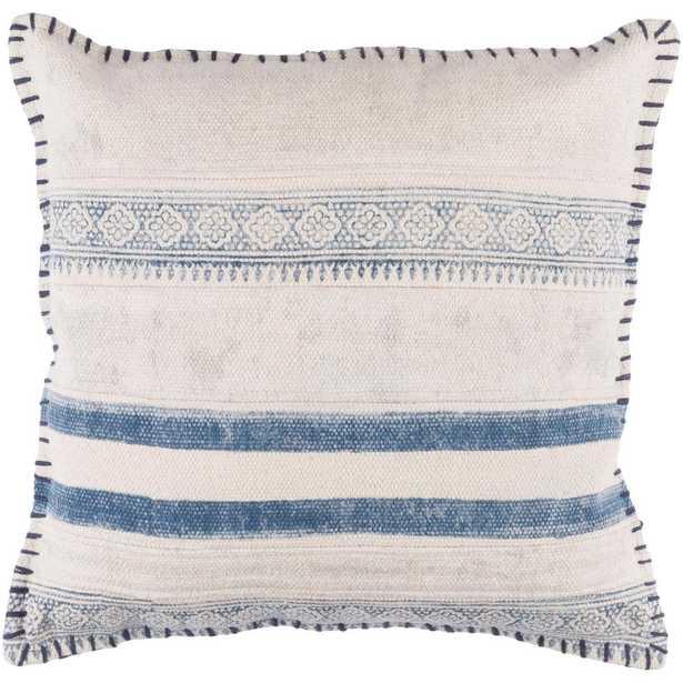 "Ronda Poly Euro Pillow, Blues 20"" x 20"" - Home Depot"