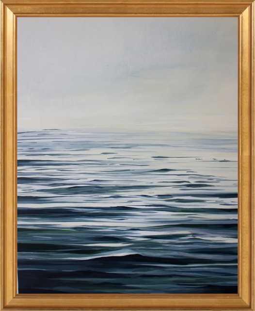 Calm Waters - 20x24 - Gold Leaf Wood No Mat - Artfully Walls