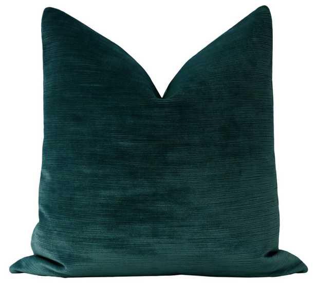 """Strie Velvet // Harbour Blue - 20"""" x 20"""" - Little Design Company"""