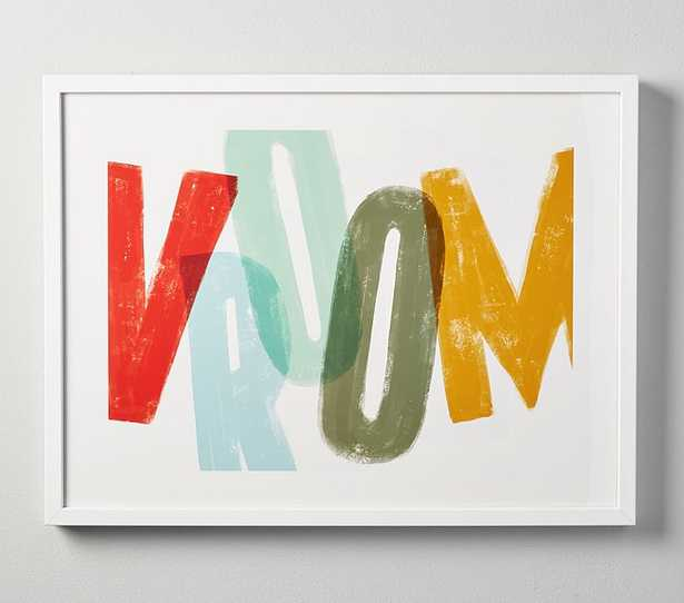 """Vroom Wall Art by Minted(R), 14""""x11"""", White - Pottery Barn Kids"""