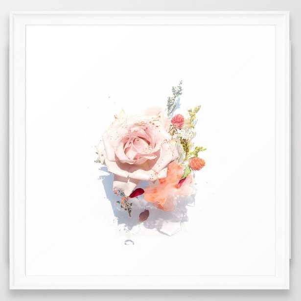 """Framed Art Print - Flower Bouquet #1 - Scoop White Frame - 22"""" X 22"""" - Society6"""