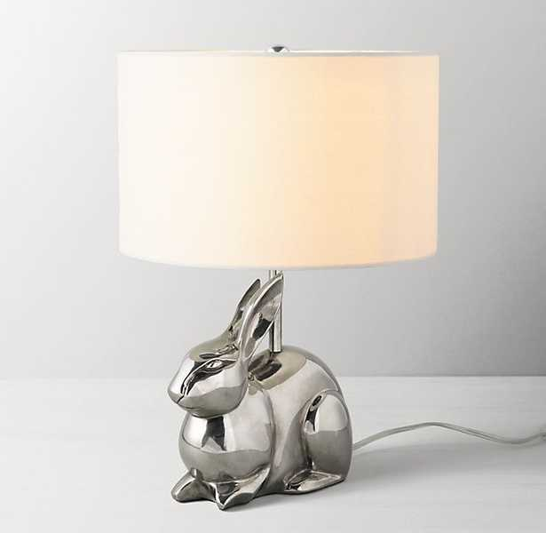 CAST METAL TABLE LAMP WITH SHADE - BUNNY - RH Baby & Child