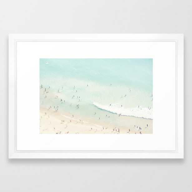 "beach summer fun - 15"" x 21"" - vector white - Society6"