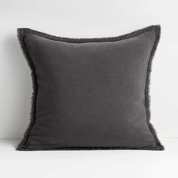 """Olind 23"""" Grey Pillow with Feather-Down Insert - Crate and Barrel"""