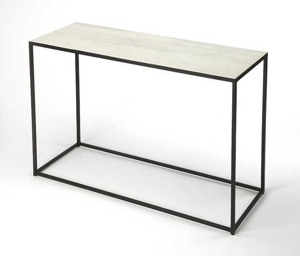 Gettys Marble/Metal Console Table - Wayfair