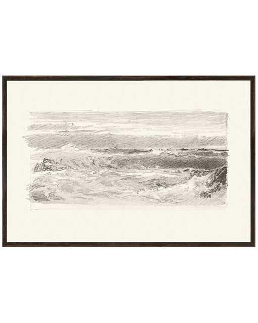 SKETCHED SEASCAPE Framed Art - McGee & Co.