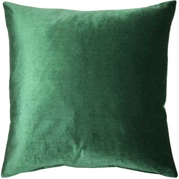 Velvet Throw Pillow 19 x 19 -Scarlet - Wayfair