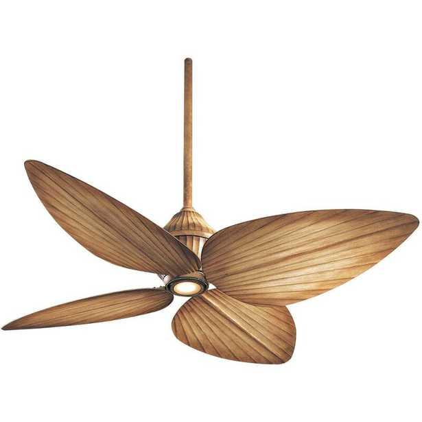 "52"" Gauguin Tropical 4 Blade Outdoor LED Ceiling Fan - AllModern"