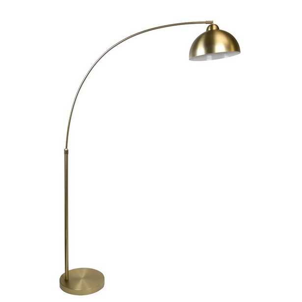 """Delapaz 69"""" Arched Floor Lamp - Plated Gold - Wayfair"""