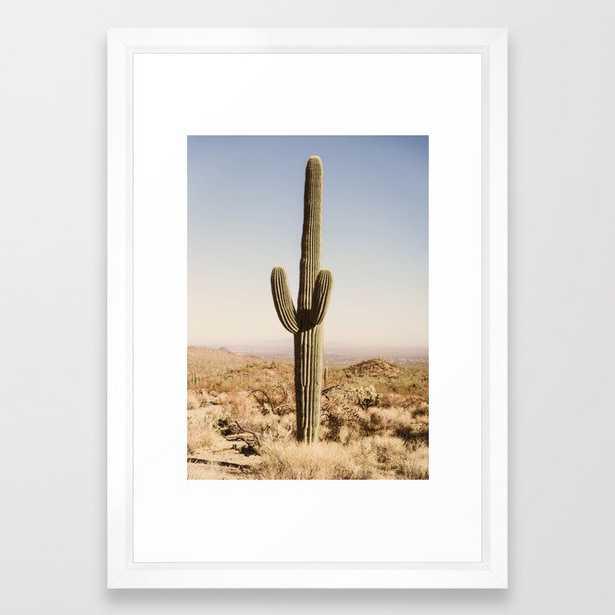 """Giant Desert Cactus Framed Art Print, 15""""x21 - Society6"""