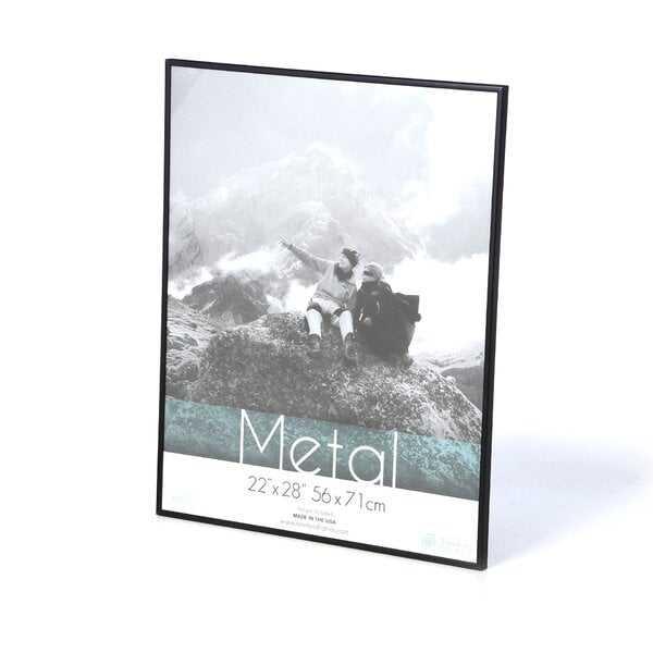 "Hollman Metal Picture Frame, Black, 24"" x 36"" - Wayfair"