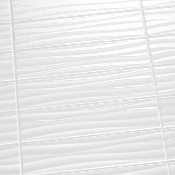 Daltile Restore Bright White 4 in. x 16 in. Ceramic Wavy Wall Tile (13.20 sq. ft. / case) - Home Depot