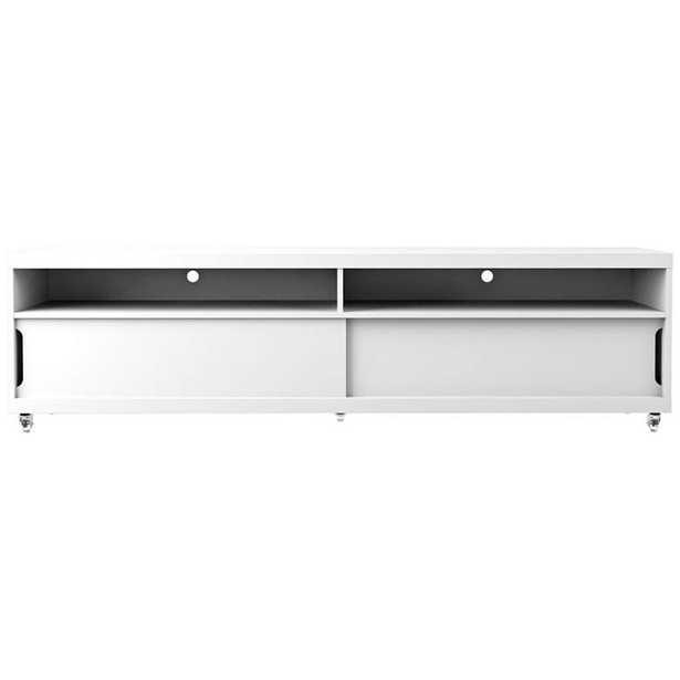 Batavia White Gloss Large 2-Door TV Stand - Style # 38K45 - Lamps Plus