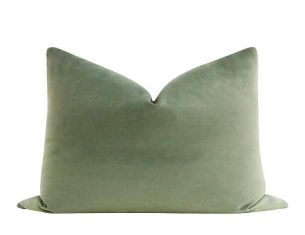 """Society Velvet // Eucalyptus - 14"""" X 24"""" - Little Design Company"""