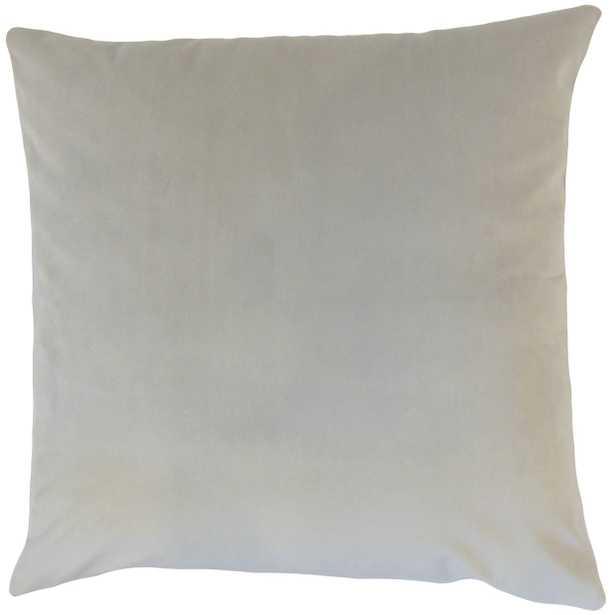 "Classic Velvet Pillow, Smoke, 22"" x 22"" - Havenly Essentials"