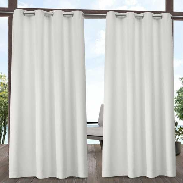 Denton Solid Room Darkening Indoor/Outdoor Grommet Curtain Panels (Set of 2) - Wayfair