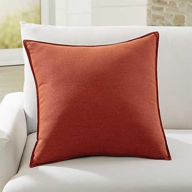 """Sunbrella ® Canvas Brick 20"""" Sq. Outdoor Pillow - Crate and Barrel"""