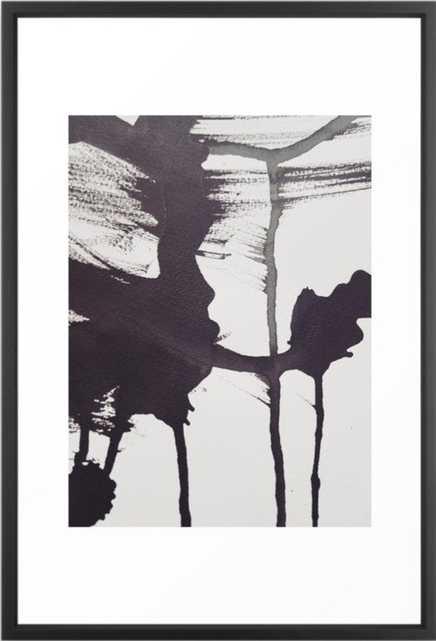 Ink1 Framed Art Print - Vector Black - Large 26 x 38 - Society6