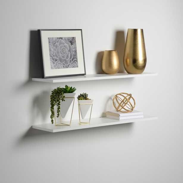 Brusly 2 Piece Floating Shelf Set (Set of 2) - Wayfair