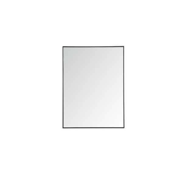 "Eternity Accent Mirror-48"" H x 36"" W- black - Wayfair"